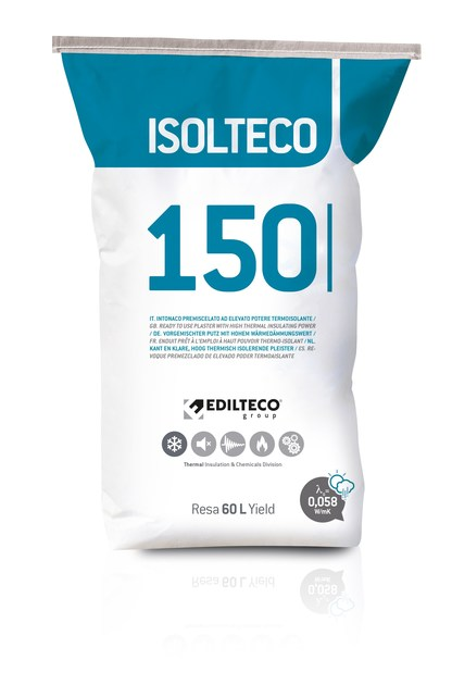 Thermal insulating plaster ISOLTECO 150 by EDILTECO