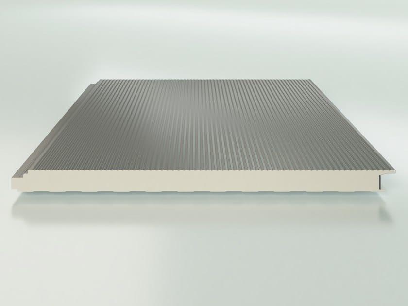 Pannello metallico coibentato per pareti ISOPARETE PLUS 2 by ISOPAN