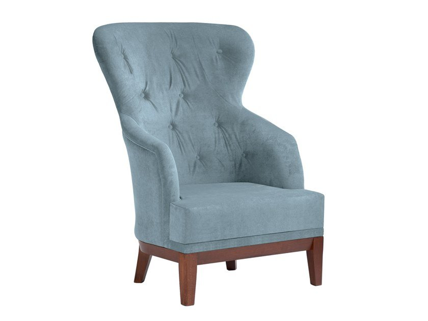 Bergere tufted upholstered fabric armchair ISOTTA BE02 by New Life