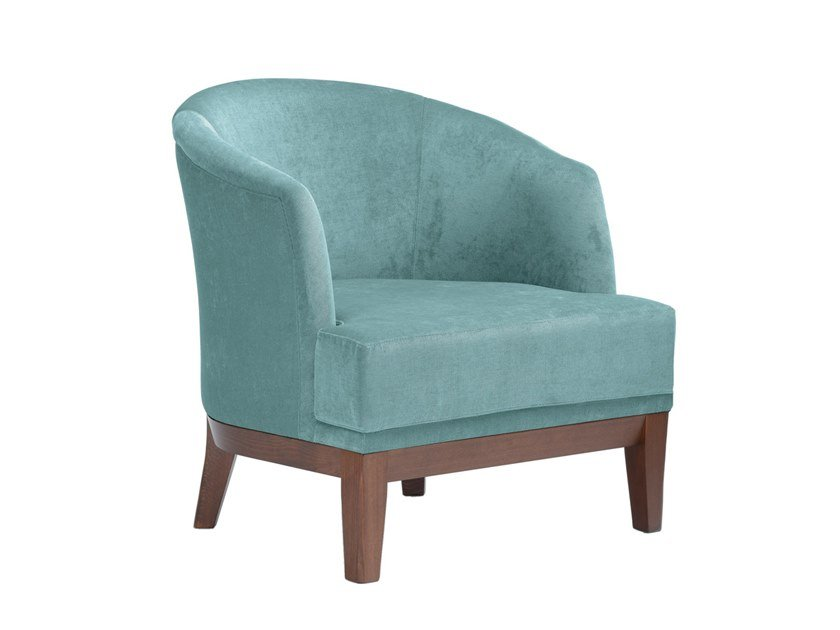 Upholstered fabric armchair ISOTTA PO01 by New Life