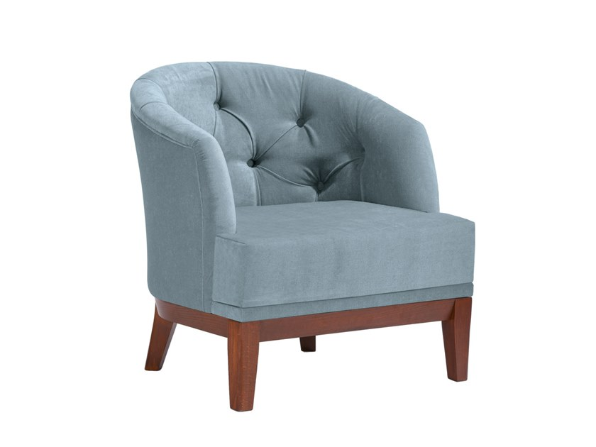 Tufted upholstered fabric armchair ISOTTA PO02 by New Life