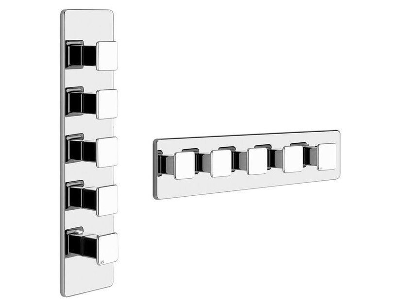 5 hole thermostatic shower mixer ISPA PRIVATE WELLNESS 41508 by Gessi