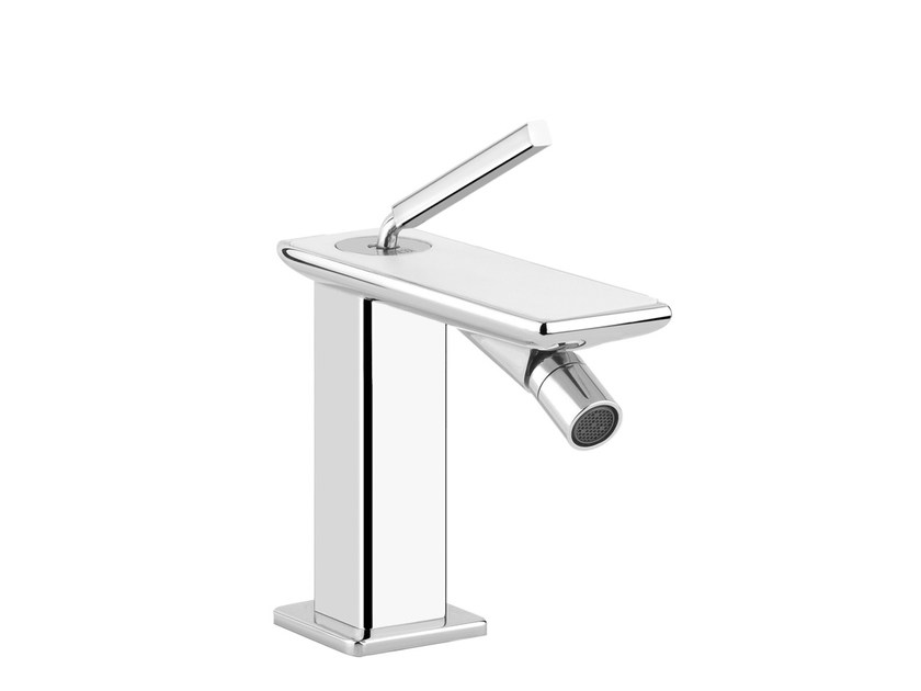 Countertop single handle bidet mixer ISPA WHITE 41207 by Gessi