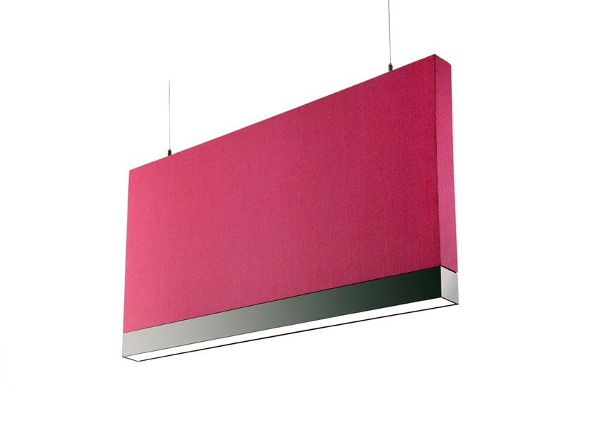 Baffle acustici in tessuto con illuminazione integrata ACUSTICA ISICHÌ 9760 by Metalmek
