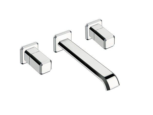 3 hole wall-mounted washbasin tap IT 243 | Wall-mounted washbasin tap by CRISTINA