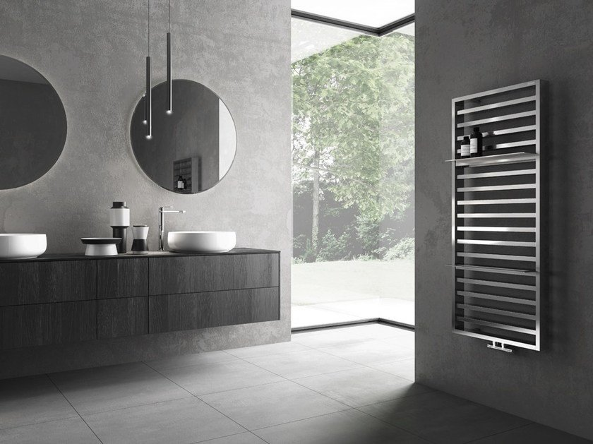 Hot-water vertical wall-mounted towel warmer IT IS by IRSAP