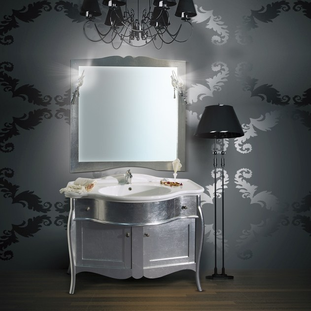 Vanity unit with doors with drawers with mirror ITACA CM01CY by LA BUSSOLA