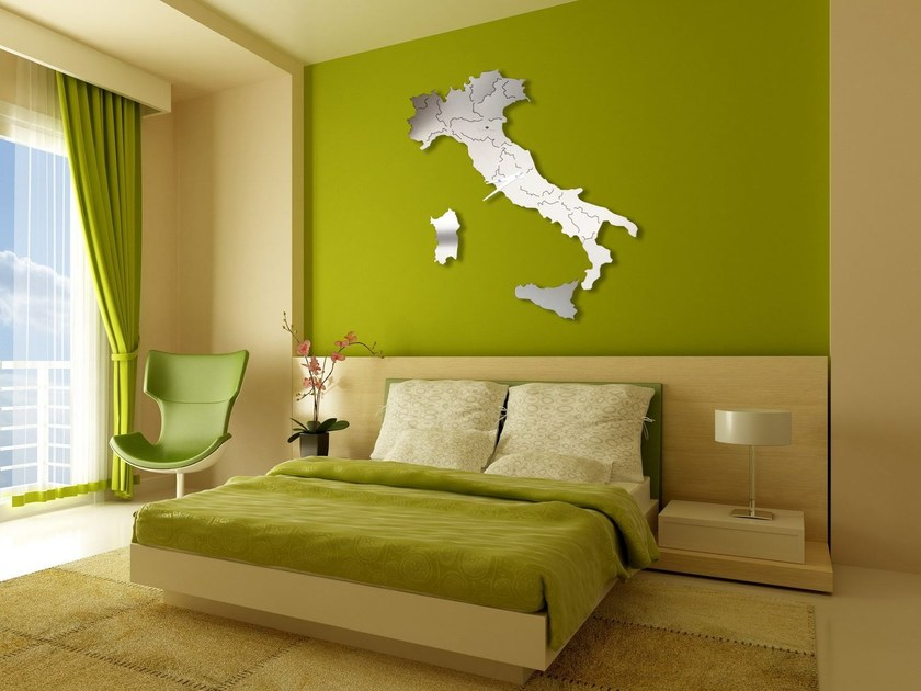Wall-mounted stainless steel clock ITALIA by Carluccio Design