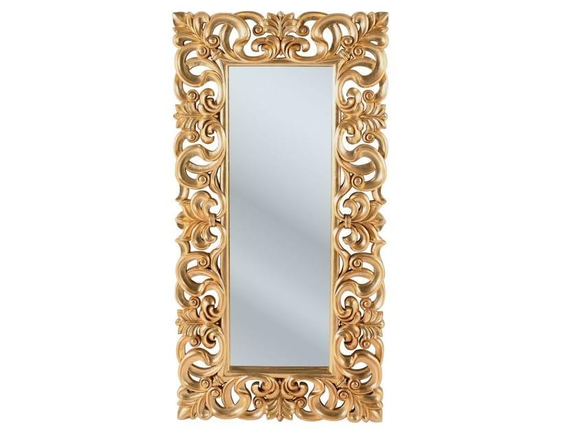 rectangular framed mirror italian baroque gold by kare design