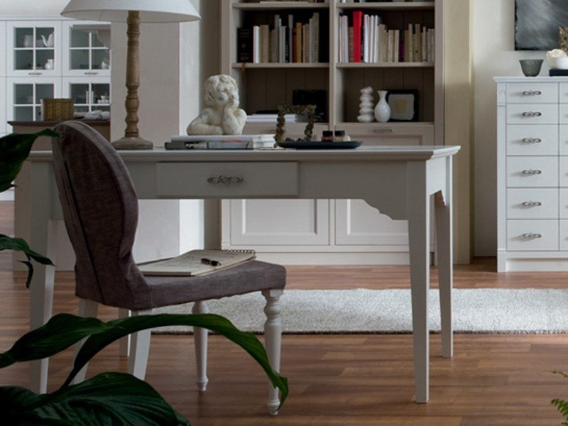 Rectangular wooden writing desk with drawers ITALIAN MOOD | Writing desk by Callesella Arredamenti