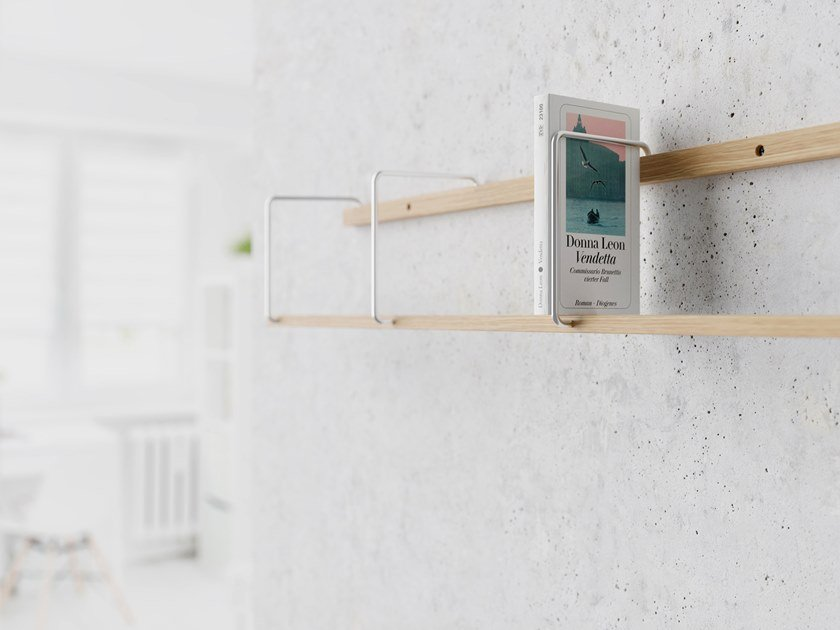 Wooden wall shelf ITALIC by BREUER BONO