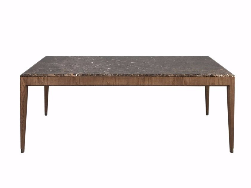 Rectangular ash and marble table ITALO by Morelato