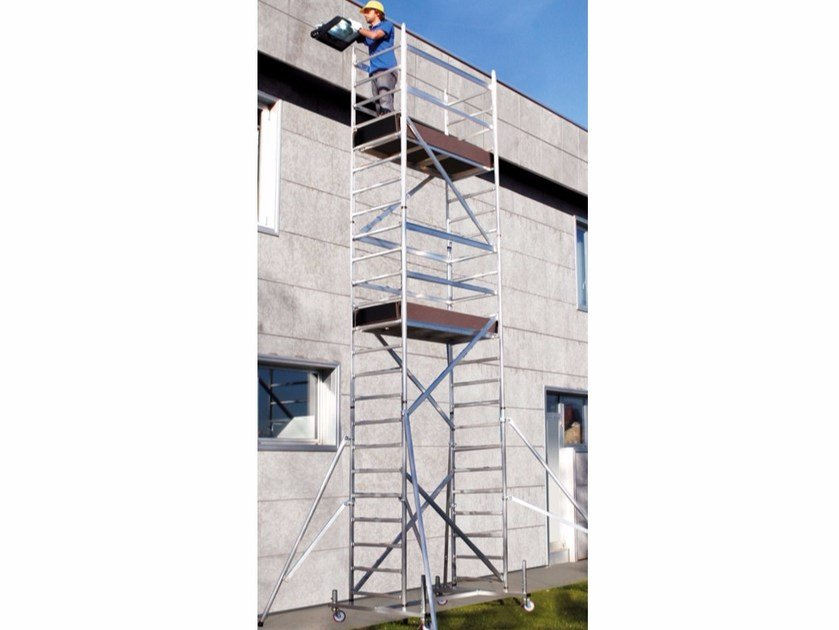 Mobile scaffolding for construction site ITALPONT HD by Frigerio Carpenterie