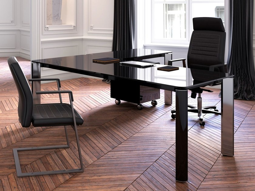Contemporary style L-shaped executive desk IULIO HG | L-shaped office desk by Las Mobili