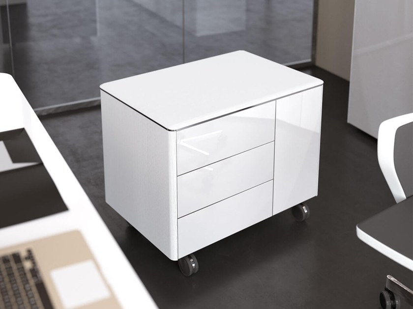 Office drawer unit with casters IULIO HG | Office drawer unit by Las Mobili