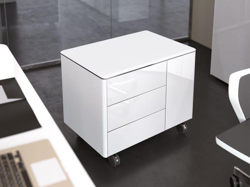 Cassettiera ufficio con ruote iulio hg cassettiera for Las mobili ufficio
