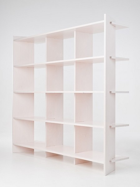 Open double-sided divider shelving unit IVI by Radis