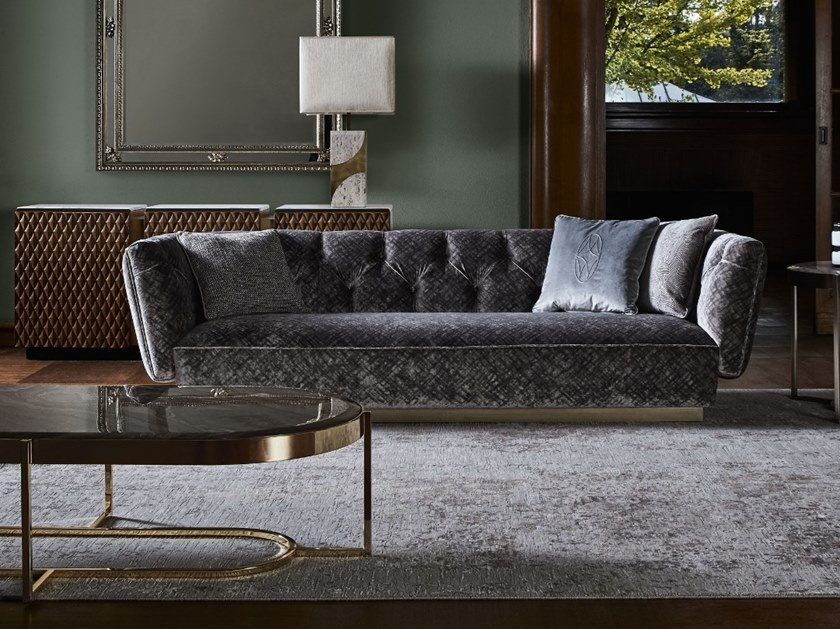 Tufted Fabric Sofa Ivonne By Opera