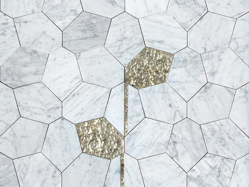 Marble wall tiles IVY by Lithos Mosaico Italia