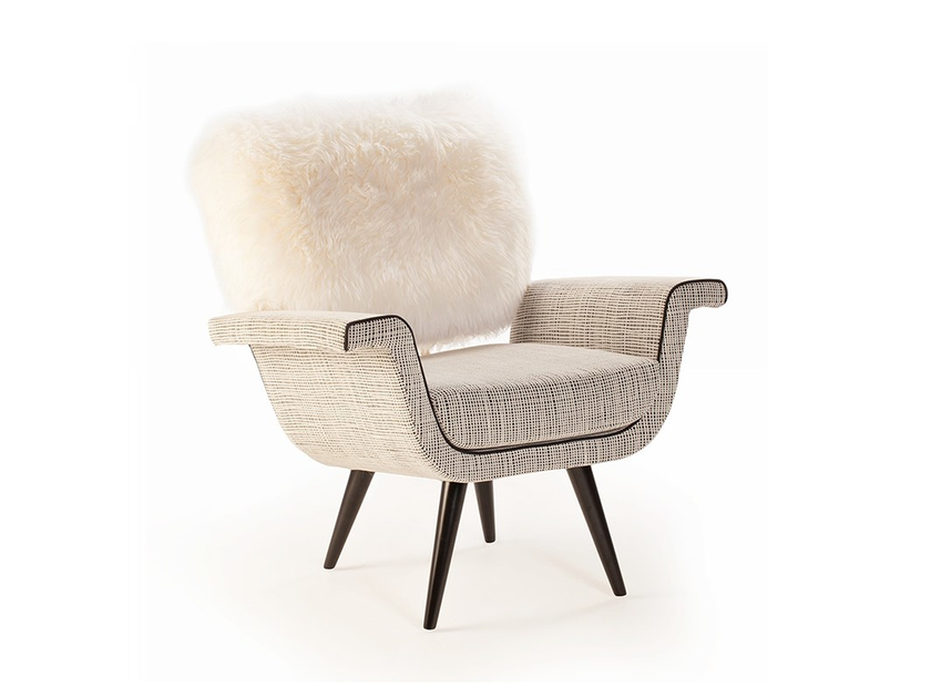 Fabric easy chair with armrests IVY by Mambo Unlimited Ideas