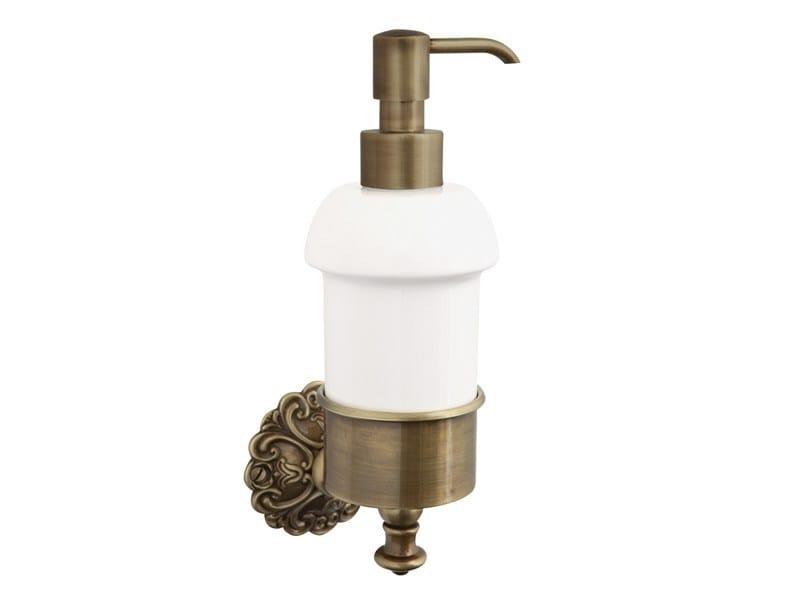 Wall-mounted ceramic liquid soap dispenser IVY | wall mounted soap dispenser by GENTRY HOME