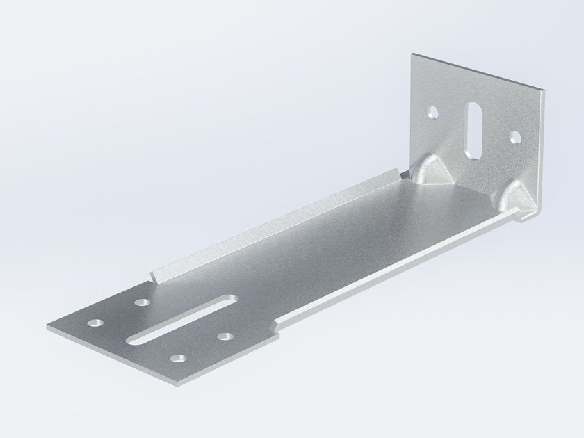 """Staffa ad """"L"""" ricavata da stampaggio di acciaio inox IX 240 by Anchoriv"""