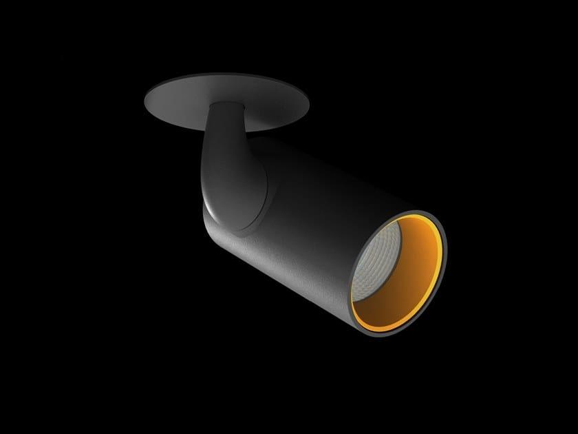 LED adjustable round powder coated aluminium spotlight IZARO DISC by LUNOO