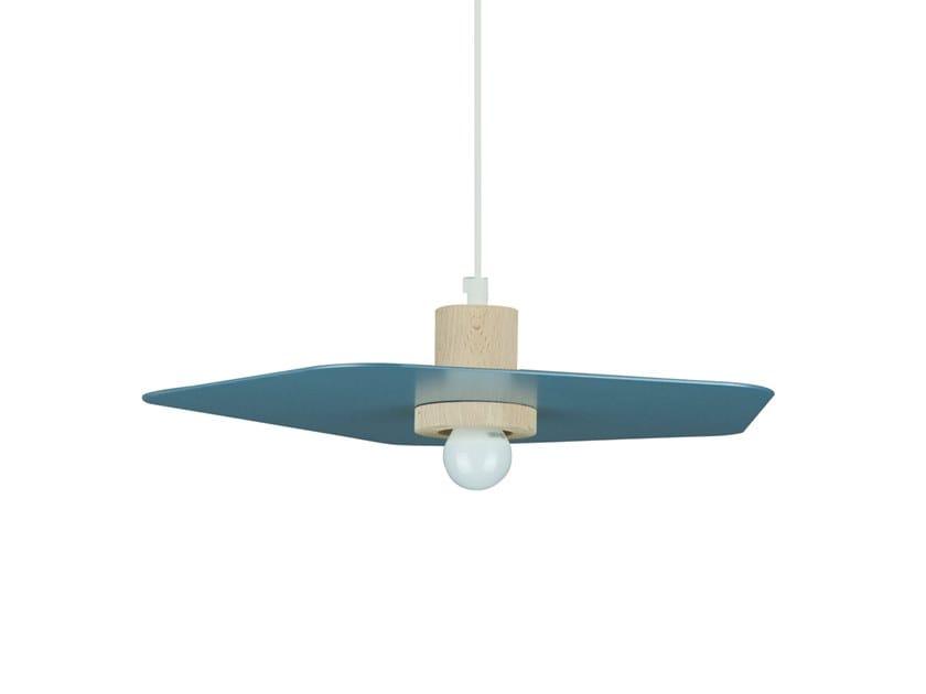 Wooden pendant lamp IZI | Pendant lamp by LUZ EVA