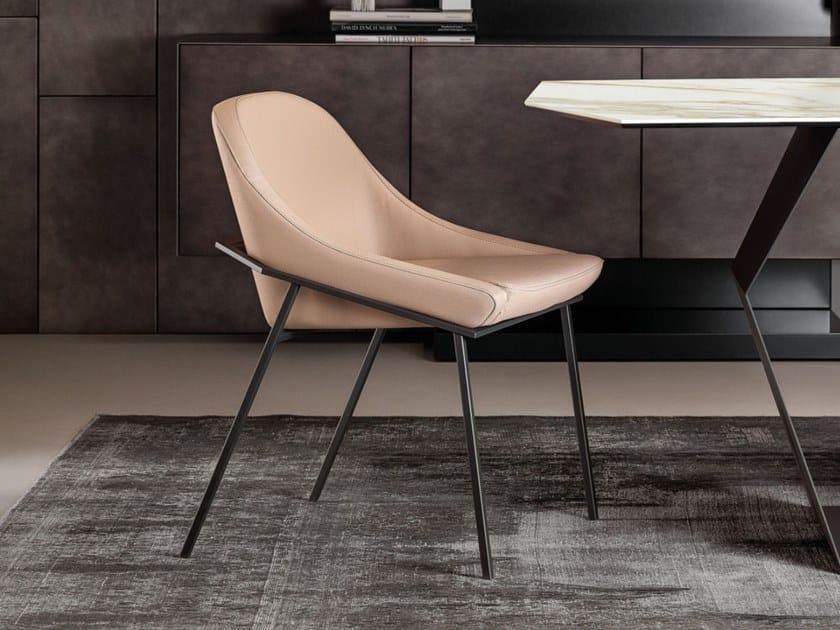 Sedia imbottita in metallo IZOARD by Ronda Design
