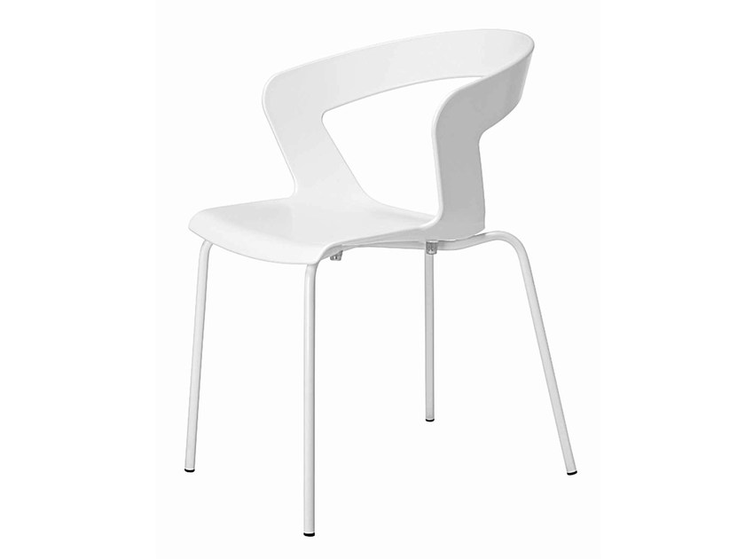 Stackable technopolymer chair Ibis 002 by Metalmobil