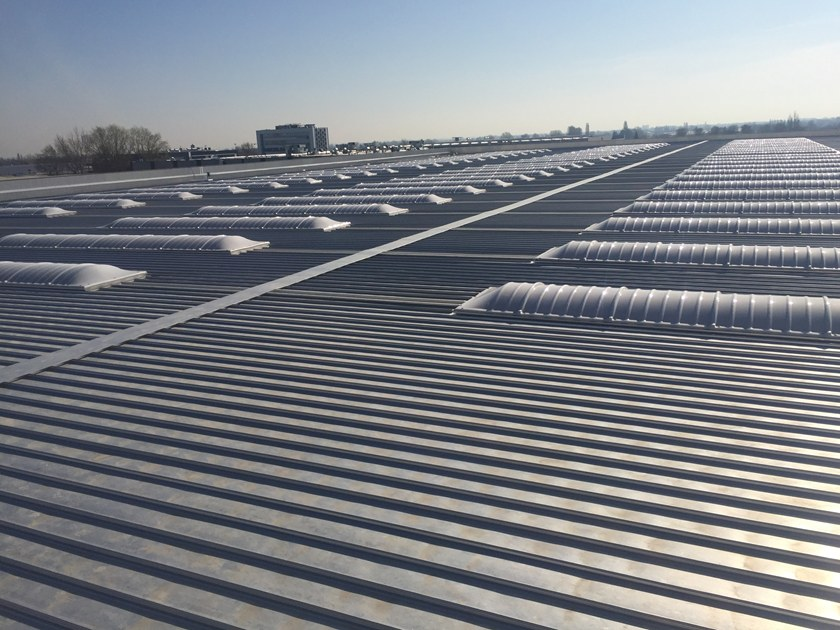 Metal sheet and panel for roof Industrial roofing Kalzip 65 and 50 by KALZIP