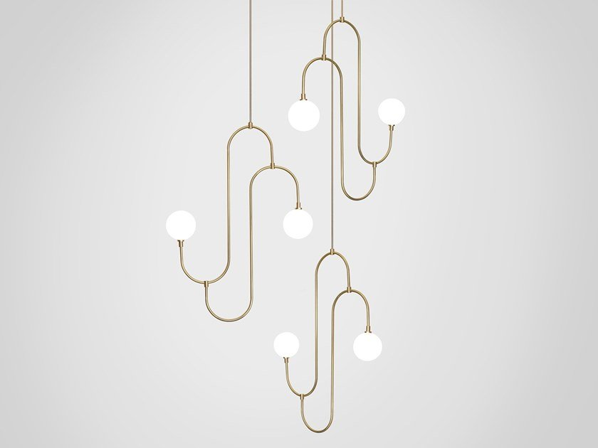 LED pendant lamp JACK AND JILL CLUSTER 3 by Marc Wood Studio