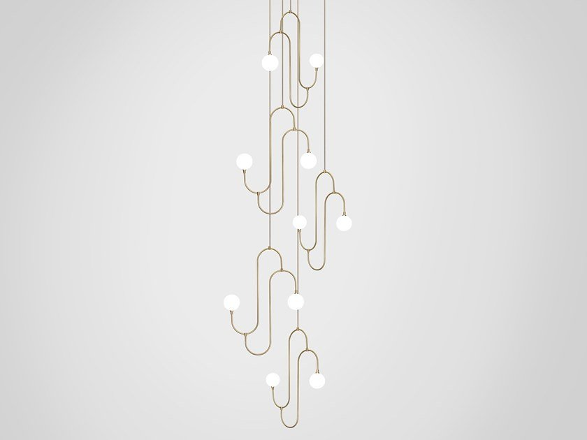 LED pendant lamp JACK AND JILL CLUSTER 5 by Marc Wood Studio