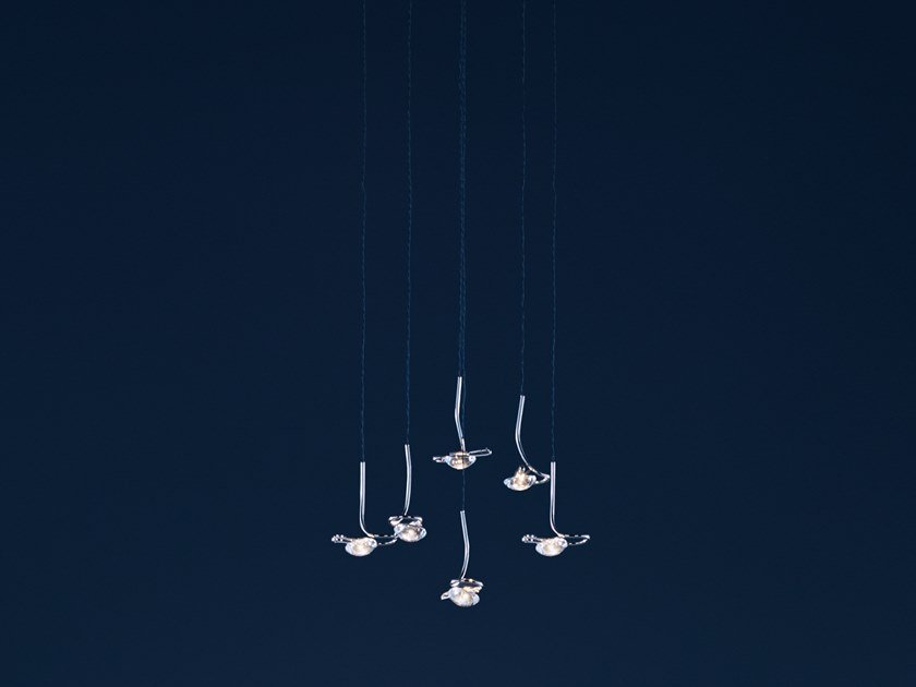 LED ceiling lamp JACKIE O CHANDELIER 6 / 9 / 12 by Catellani & Smith