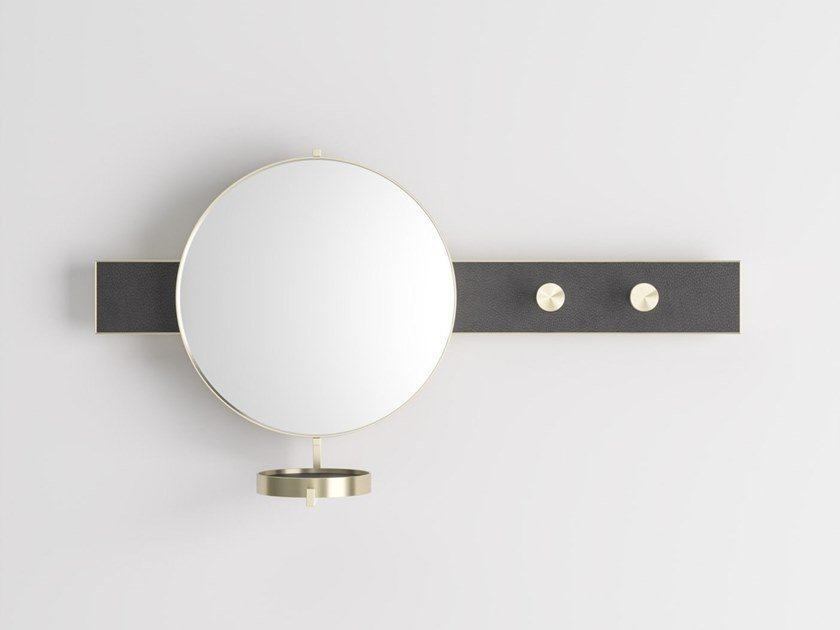 Metal mirror / coat rack JACKIE by PROF