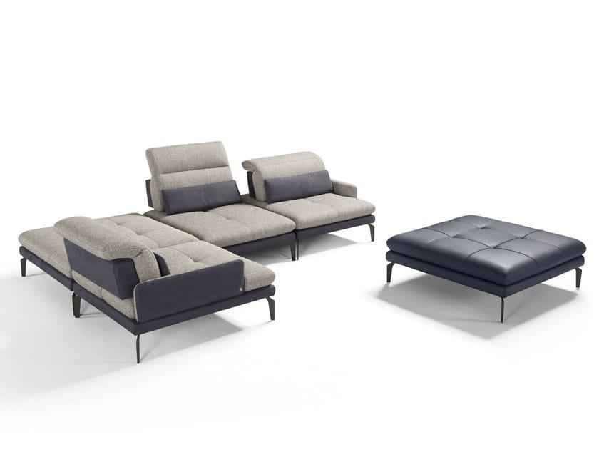 Divano componibile modulare reclinabile in tessuto JACLYN | Divano componibile by Egoitaliano