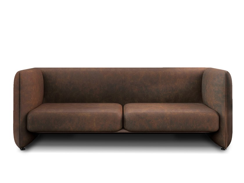 2 seater leather sofa JACOB | Leather sofa by Collector