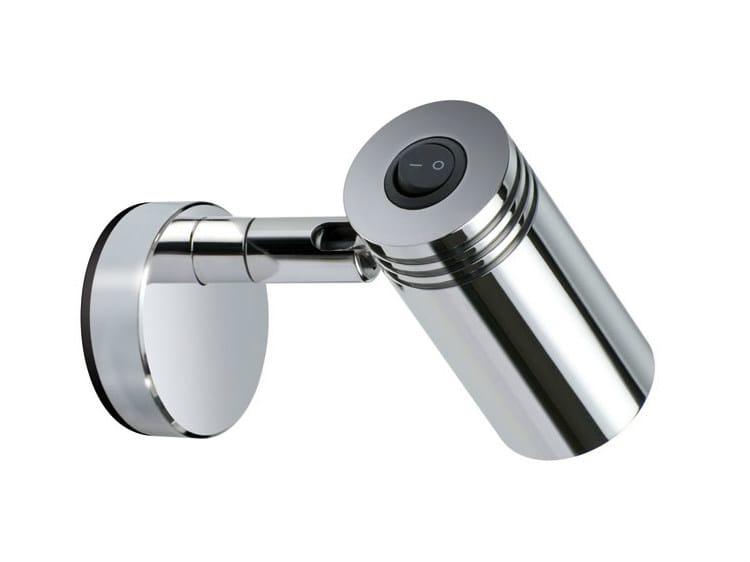 Applique a led orientabile in alluminio in stile moderno jacob