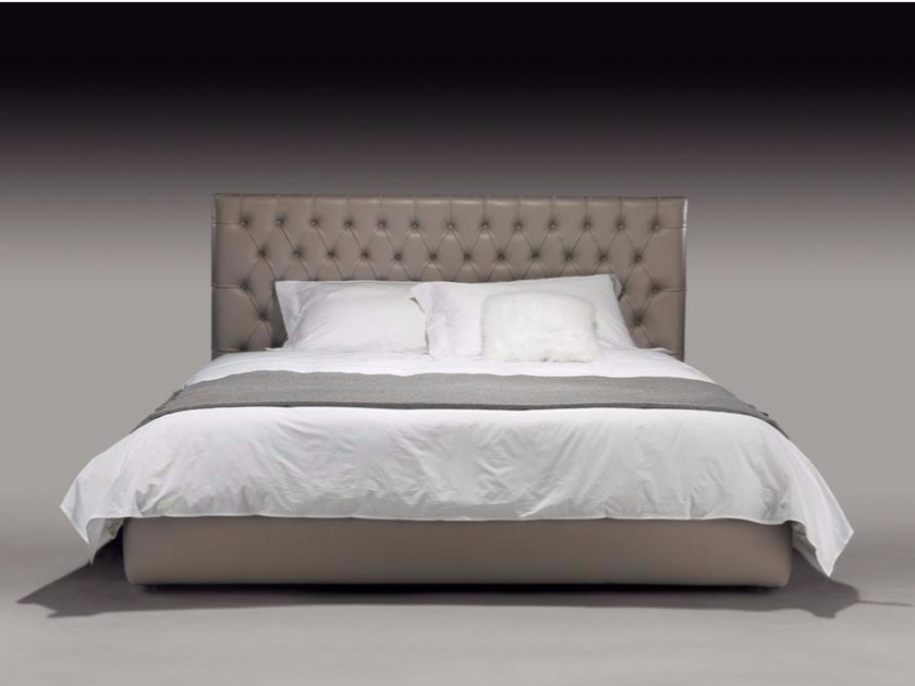 Double bed with tufted headboard JACOPO by Casamilano