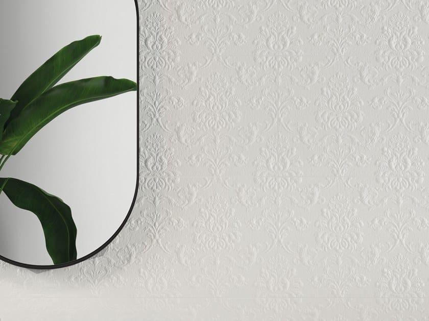 White-paste 3D Wall Cladding FORME BIANCHE JACQUARD by Impronta Ceramiche