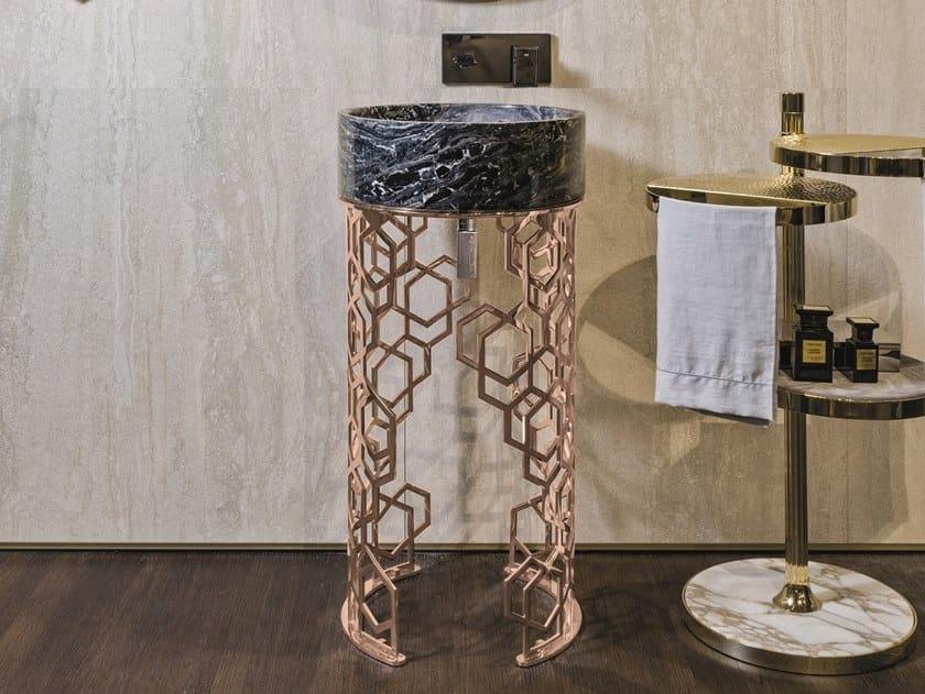 Freestanding round washbasin JACQUELINE by Longhi