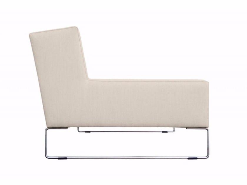 Sled base fabric garden armchair JAM | Garden armchair by April Furniture