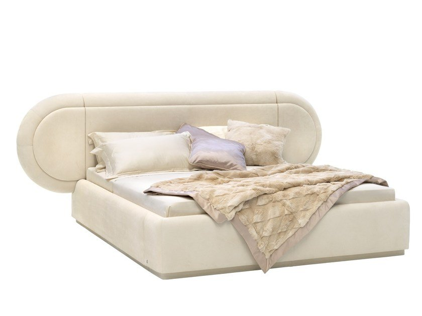Double bed with upholstered headboard JAMES | Bed by Smania