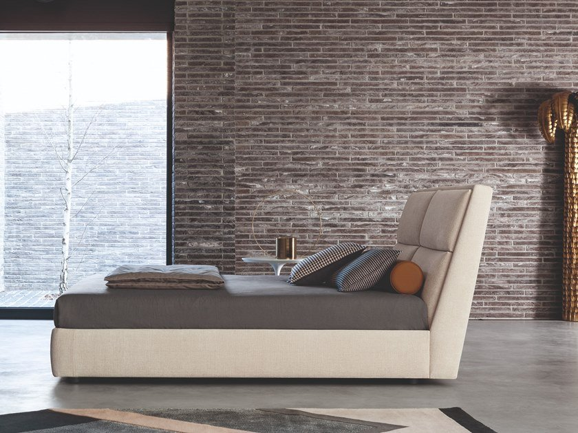 Doppelbett Bett aus Stoff mit Polsterkopfteil JAMES | Doppelbett Bett by Twils