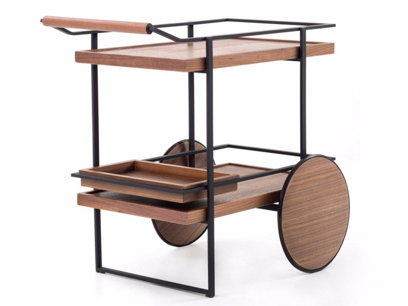 bar cart by stellar works design yabu pushelberg. Black Bedroom Furniture Sets. Home Design Ideas