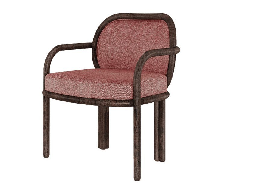 Fabric chair with armrests JAMES by Wood Tailors Club