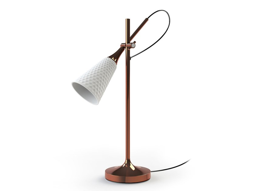 Adjustable porcelain table lamp JAMZ | Table lamp by Lladró