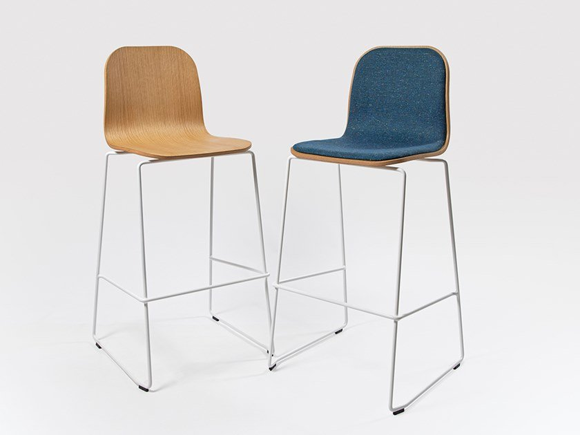 Sled base barstool with footrest JANE   Barstool by Liqui Contracts
