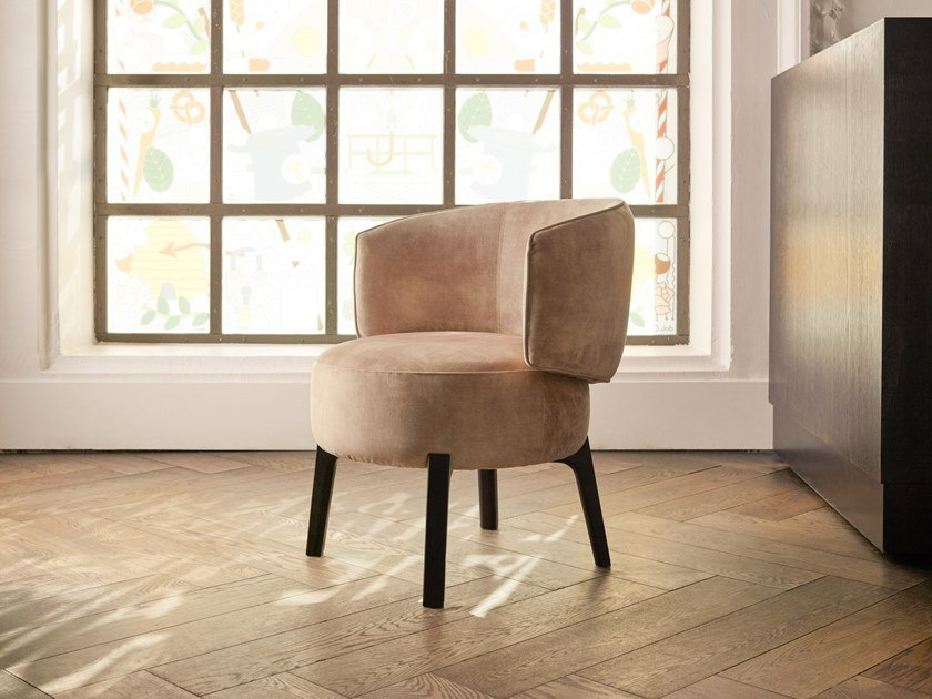 Fabric dining chair with armrests JANE by Piet Boon