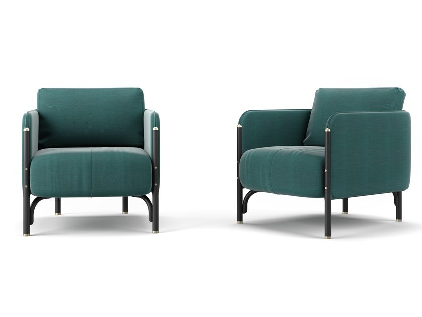 Fabric armchair with armrests JANNIS | Armchair by Wiener GTV Design